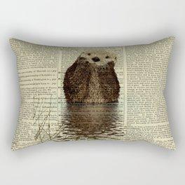 Otter in Love Rectangular Pillow