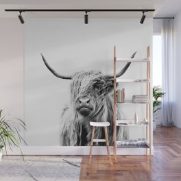 portrait of a highland cow Wall Mural