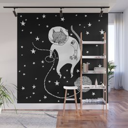 Space Cat Proves String Theory Exists Wall Mural