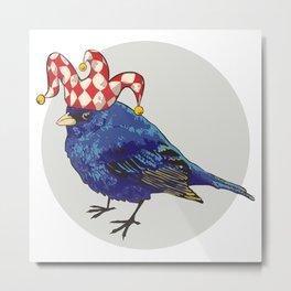 Arlecchino Blue Bird by Kateryna Veshtak Metal Print