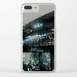 Futuristic Bangkok Clear iPhone Case