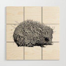 Leaf Hedgehog Wood Wall Art