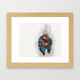 Oops, Spider Dude! Framed Art Print