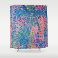 sparkle Shower Curtains featuring Sparkle by Candy Circles