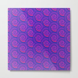 Purple spiral pattern Metal Print
