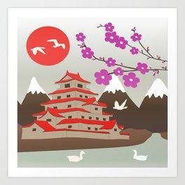 Japanese Pagoda Art Print