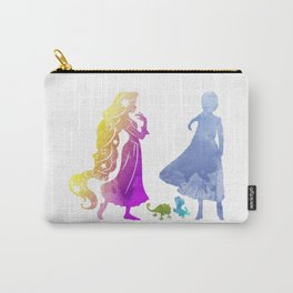 Princesses and Lizards Inspired Silhouette Carry-All Pouch