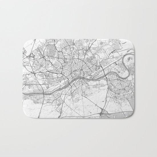 Frankfurt Map Line Bath Mat