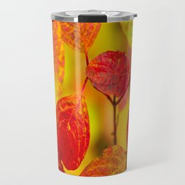 Red autumn leaves #decor #society6 Travel Mug