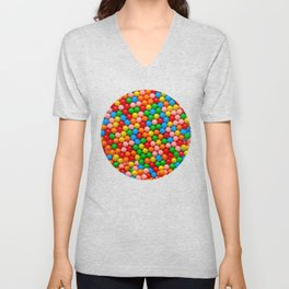 Mini Gumball Candy Photo Pattern Unisex V-Neck