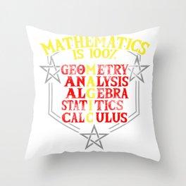 math magic teacher school statistics joke gift Throw Pillow