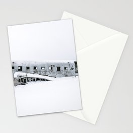 Plane Wreck in Iceland in Winter - Landscape Photography Minimalism Stationery Cards