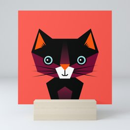 Kids Room Animals Cat – Nursery art for boys and girls Mini Art Print
