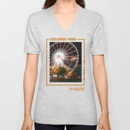 Skyview Ferris Wheel, Centennial Park Unisex V-Neck