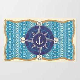Nautical Compass Rug