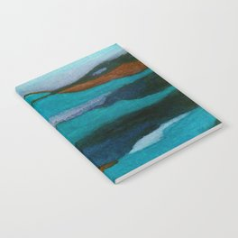 """""""a dark february redux1"""" abstract watercolor painting Notebook"""