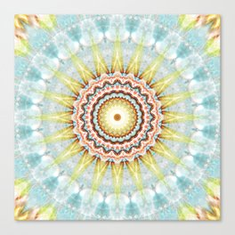Mandala wintersun Canvas Print