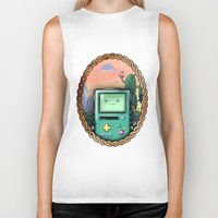 bmo Biker Tanks featuring BMO!! by SempiternalILLUSTRATIONS