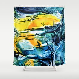 WinterFullMoon Shower Curtain