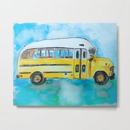 Wheels on the Bus Metal Print