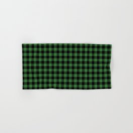 Classic Green Country Cottage Summer Buffalo Plaid Hand & Bath Towel