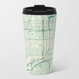 Chicago Map Blue Vintage Travel Mug