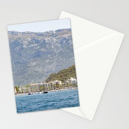 View over Port de Sóller from the water Stationery Cards
