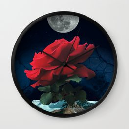 Rose Collage Wall Clock