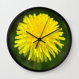 Yellow Dandilion Wall Clock