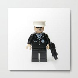 Old school cop Minifig Metal Print