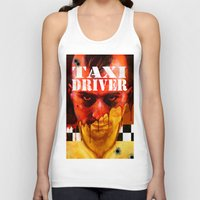 taxi driver Tank Tops featuring Taxi Driver by ChrisNygaard