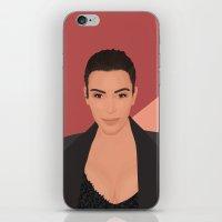 kardashian iPhone & iPod Skins featuring Kim Kardashian by Tornado