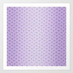 Purple Mermaid Scales - Mermaid Life Art Print