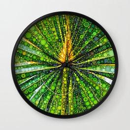 Mexican Fan Palm Leaf Wall Clock