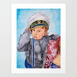 Little Captain Art Print