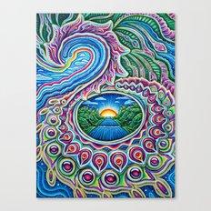 Sunrise Dragon Splash Canvas Print