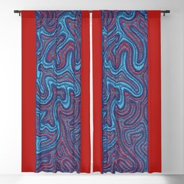 Stitches - Coral Blackout Curtain