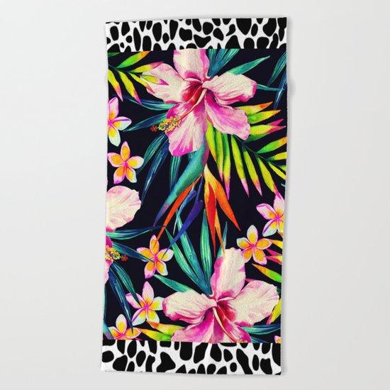tropical wild 2 Beach Towel
