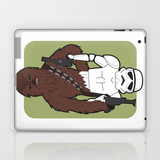 Chewbacca and Stormtrooper Laptop & iPad Skin