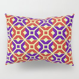 Como mosaic, red, purple, light pistachio Pillow Sham