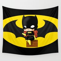 chibi Wall Tapestries featuring Chibi Batgirl by artwaste