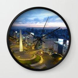 Buenos Aires Obelisco Wall Clock