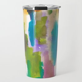 180812 Abstract Watercolour Expressionism 10 | Colorful Abstract | Modern Watercolor Art Travel Mug