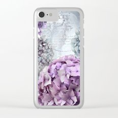 Vintage Flower Hydrangea Hortensia Collage Clear iPhone Case