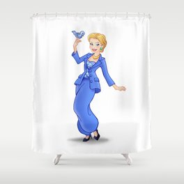 Princess Hillary Clinton (Trumble Cartoon) Shower Curtain
