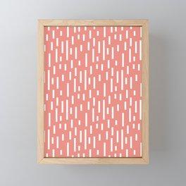 Raining pattern orange Framed Mini Art Print