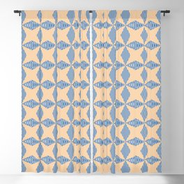 Crossing the lines - the blue and yellow  optical illusion Blackout Curtain