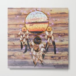 Dreamcatcher Ocean Sunrise Metal Print