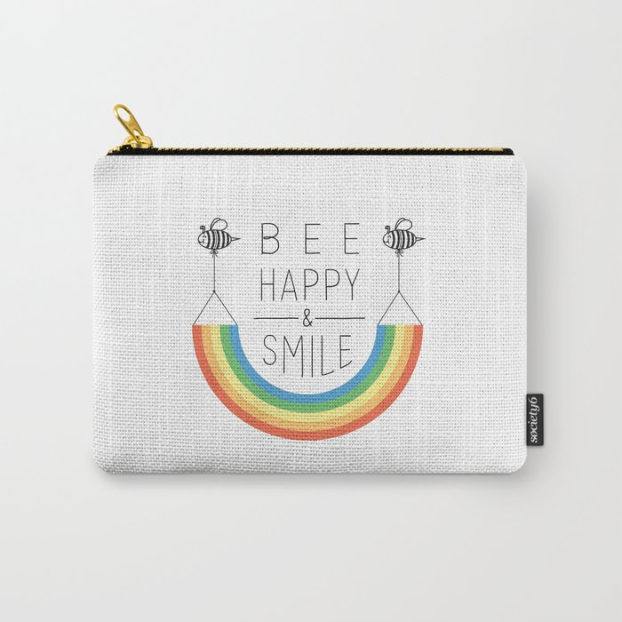 Bee Happy and Smile Carry-All Pouch