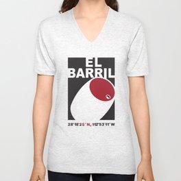 El Barril Black Unisex V-Neck